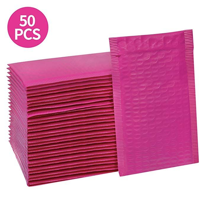 Amazon Com Hblife 000 4x8 Inches Poly Bubble Mailers Self Seal Hot Pink Padded Envelopes Pack Of 50 Gateway Bubbles Pink Bubbles Pink Tool Box