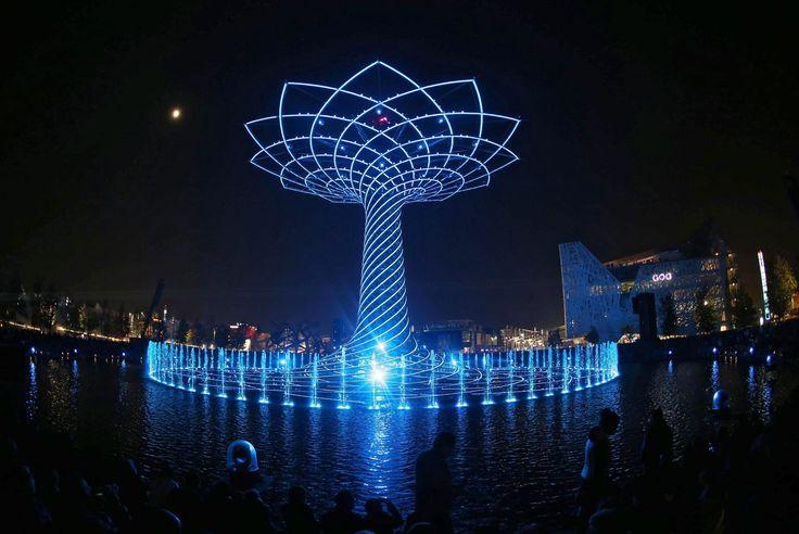 The Tree of Life, Milan, Italy.  Photograph: Stefano Porta/EPA