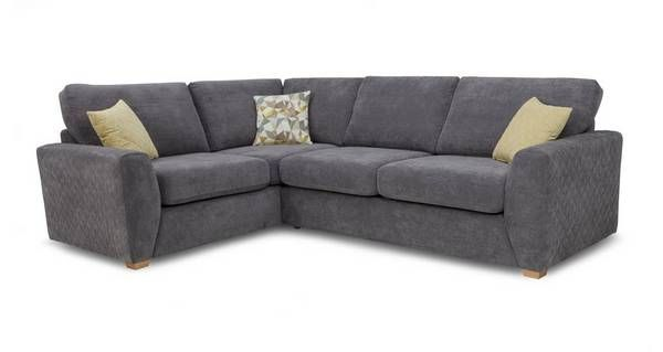 £1799 (sale £1200). Dfs. Astaire Right Hand Facing Arm Corner Deluxe Sofa Bed Sherbet | DFS