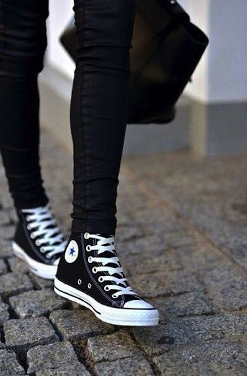 With the chucks on...