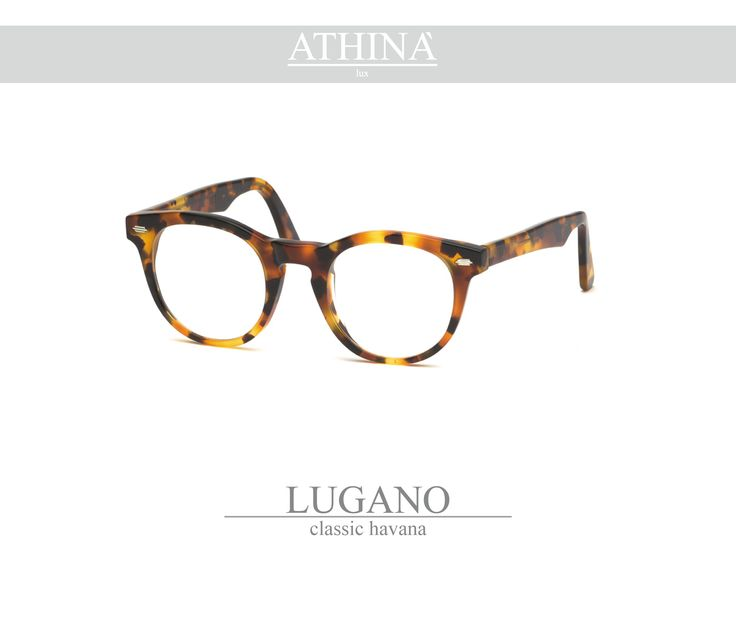 Mod. LUG0202V Called as the native city of Athinà Lux, Lugano is made with classic havana acetate of cellulose.