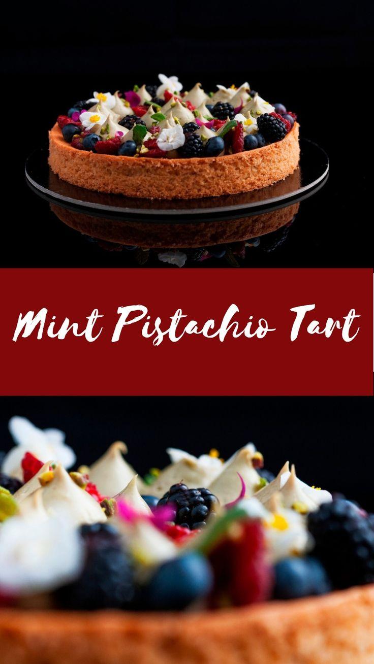 Mint Pistachio Tart - so creamy and refreshing!