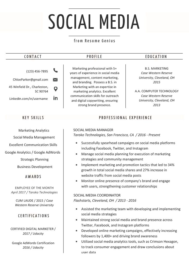 Digital Marketing Manager Resume Best Of social Media
