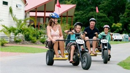 We have pedal karts for hire at BIG4 Adventure Whitsunday Resort, with 1, 2 and 4 seater carts available, Cheap hourly hire available, heaps of fun for the littlies!  http://www.adventurewhitsunday.com.au/play/play-with-us/