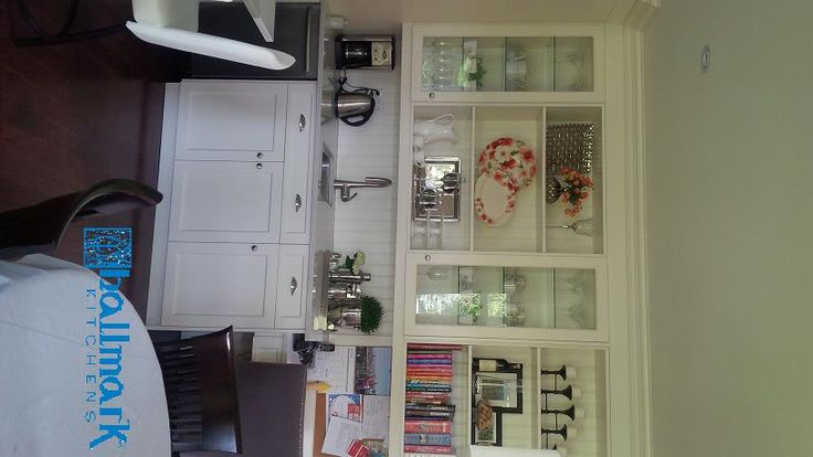 Cloud White cabinets - bar area and message centre