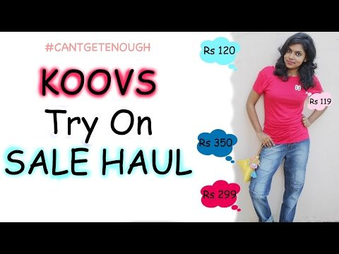 Koovs Sale Haul - Try On Clothing Haul | Outfits under 1000 Rs  Koovs.com had a massive sale for 80% off on the all the cool clothing & things, I did shop a lot this month and found some super cool deals like tops. I hope you get inspired to shop after seeing this video (wink wink)!!