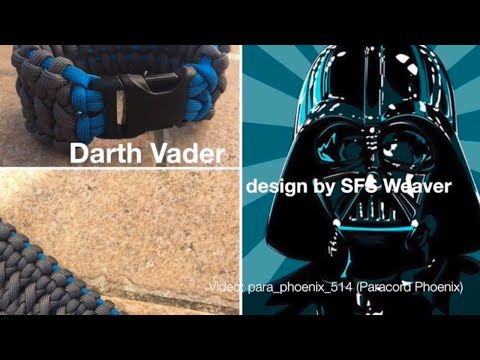 The Darth Vader Knot Paracord Bracelet design by SFS Weaver 6-Strand without buckle. - YouTube