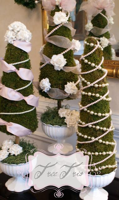 A beautiful way to decorate trees for spring.  A Little Loveliness: Tea Time