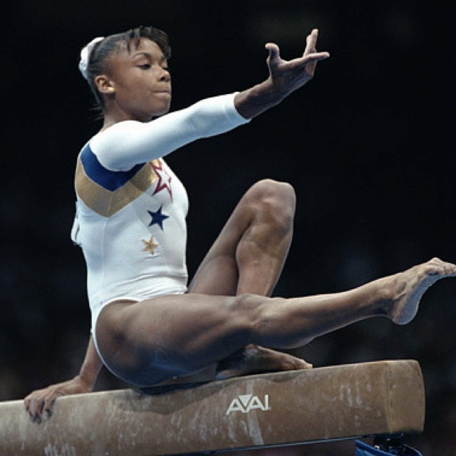 Dominique Dawes (first African American gymnast to represent USA in Olympics)