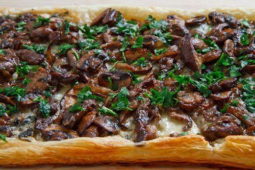 Mushroom and Caramelized Onion Tart