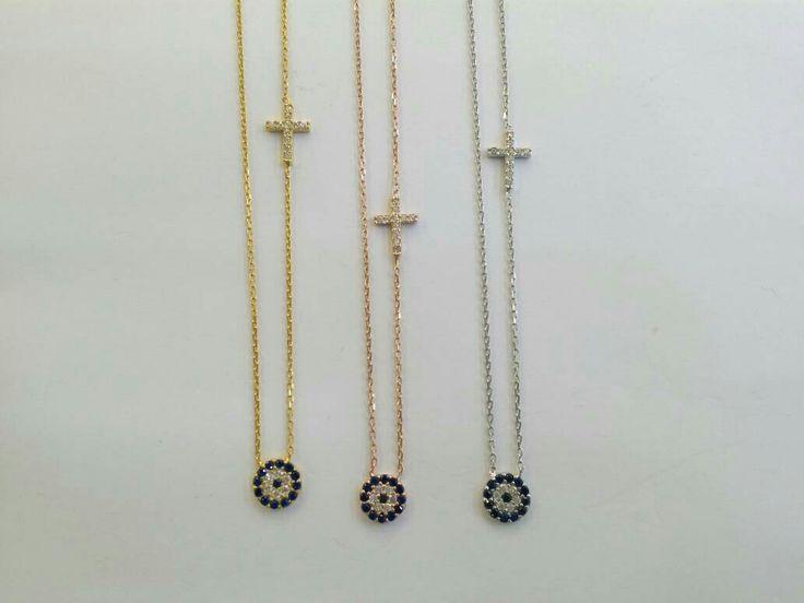 #thelittleshopAthens#evileyenecklaceswithcross#evileyes#religiousjewelry #etsy #jewelry #necklace #silver #eye #evileye #greek #elegant http://etsy.me/2DbLyOp