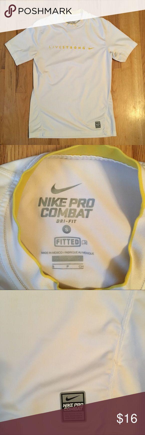 Livestrong Nike dry-fit S Nike pro combat. Nike Shirts Tees - Short Sleeve