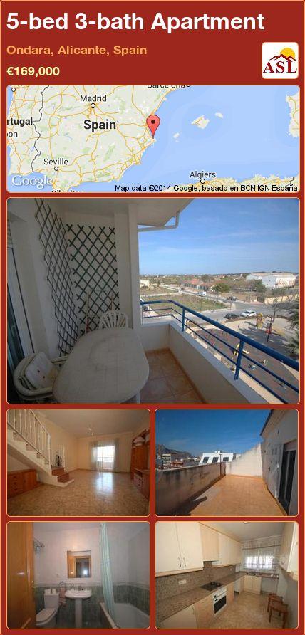 5-bed 3-bath Apartment in Ondara, Alicante, Spain ►€169,000 #PropertyForSaleInSpain