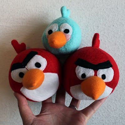 Angry Birds Tutorials and Patterns from Obsessively Stitching