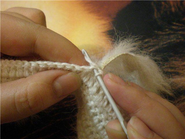 Вязание изделий с мехом