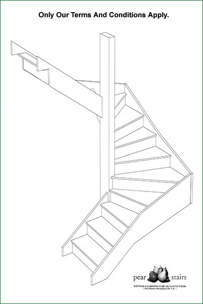 Carpeted stairs design drawing