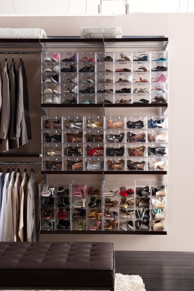 Shoe storage organize and display in clear