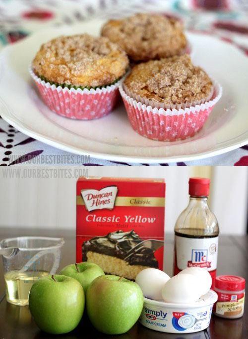 El muffin perfecto con manzana y canela