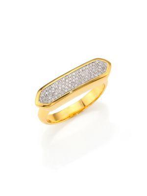 Inel de damă MONICA VINADER Baja, elegant, fashion, din aur de 18k, cu diamante, disponibil în diferite mărimi.