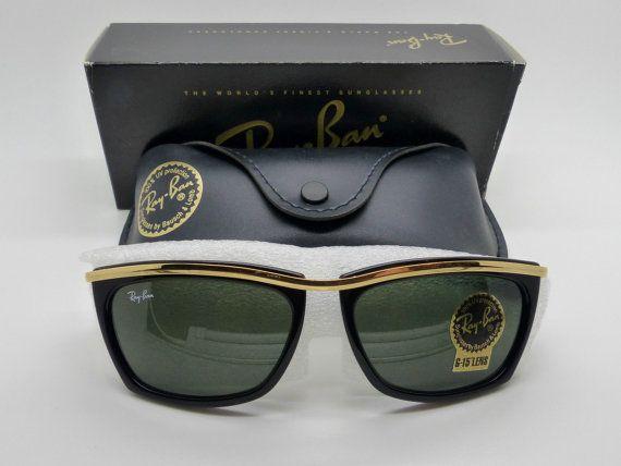 Vintage B&L Ray Ban L1004 Ebony Olympian II G15 Sunglasses por VSOx