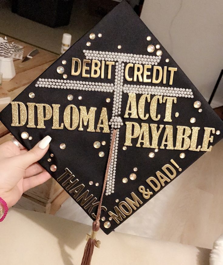 The 25 best accounting student ideas on pinterest for Accounting graduation cap decoration