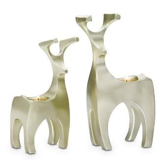 Endearing Tealight Holder Pair – Champagne Edition