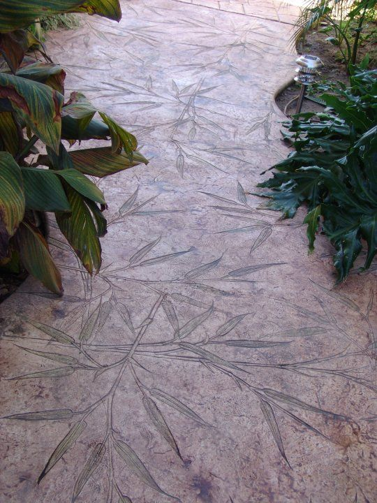 Bamboo Seamless Concrete Stamp Concrete Stamps Patios