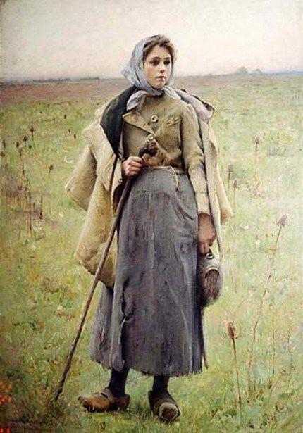 The Shepherd's Daughter - Charles Sprague Pearce (1851 – 1914)