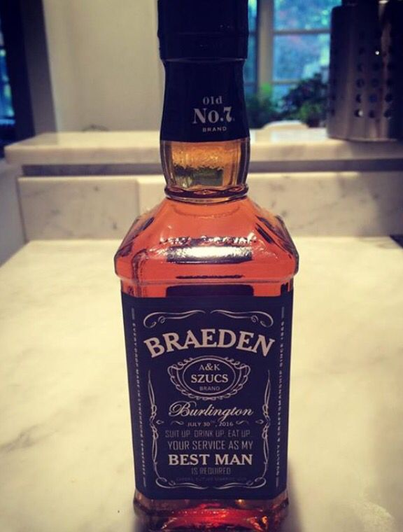 The 25 best ask groomsmen ideas on pinterest asking groomsmen personalized whisky bottles to ask groomsmen to be part of the wedding party junglespirit Image collections