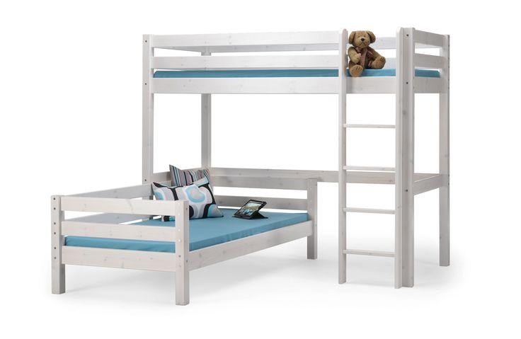 jerry hochbett mit einzelbett in 2 farben etagen und hochbetten pinterest hochbett bett. Black Bedroom Furniture Sets. Home Design Ideas