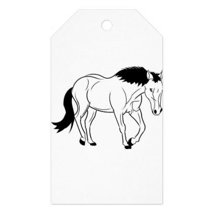 horse outline gift tags