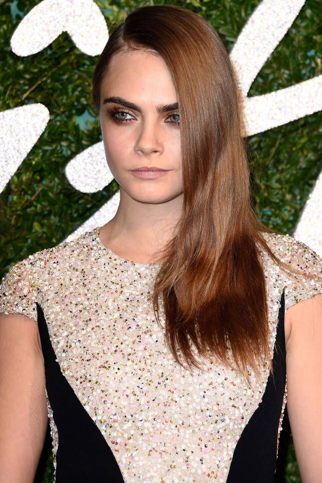The best brunette shades for winter, just like Cara Delevingne.
