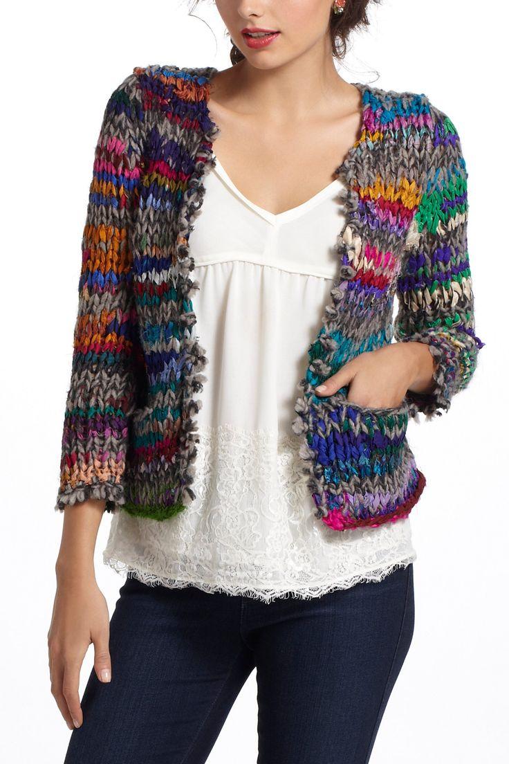 Casaquinho de tricô colorido