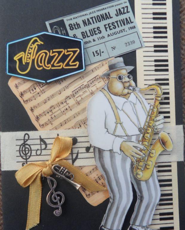 scrapbook card Jazz