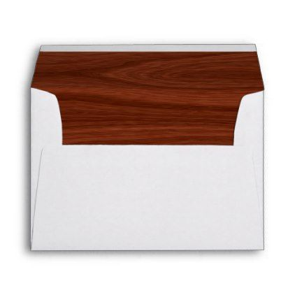 #elegant - #Elegant Mahogany Wood Grain Liner Wedding 5x7 Envelope