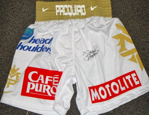 Manny Pacquiao Autographed Signed Fight Model Boxing Trunks