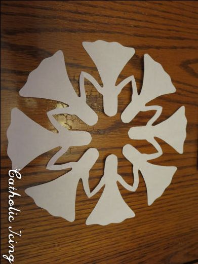 paper doll chain in circle