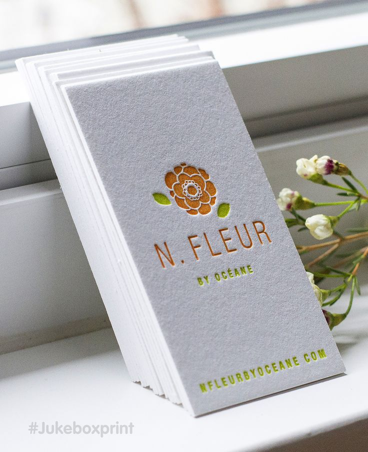 The simplicity of Letterpress Business cards #jukeboxprint