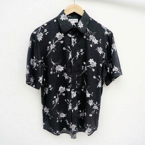 Black pattern shirt / @m.a.e.n / 149K #mensshirt #madeinindonesia #patternshirt #lokalbrand #clothing
