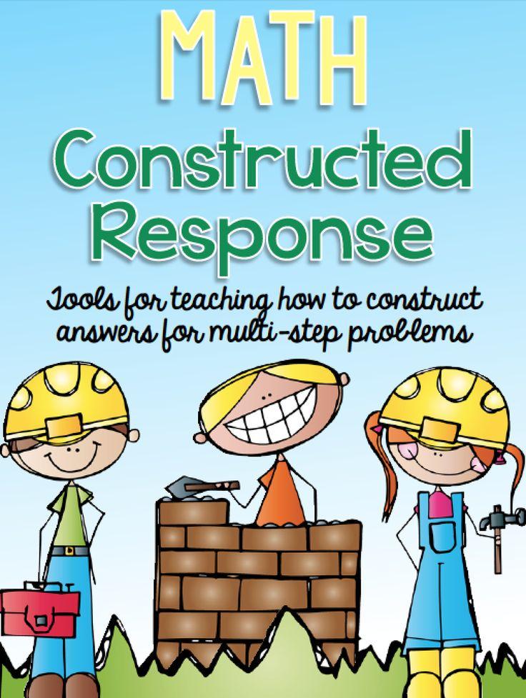 Math Constructed Response - http://www.ashleigh-educationjourney.com/2014/07/math-constructed-response.html