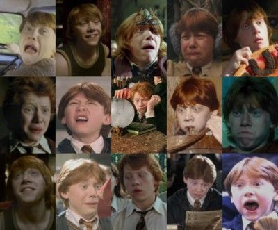 Oh the many faces of Ron Weasly