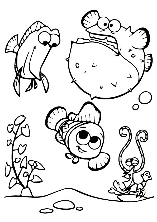 print coloring image finding nemo - Finding Nemo Coloring Book