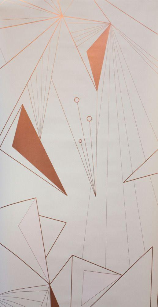 DecoPrism Wallpaper Copper Blush - Michele Varian - $220.00 - domino.com