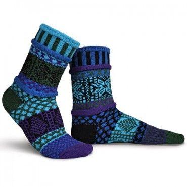 Blue Spruce Solmate Mismatched Socks from www.indigobluetrading.com