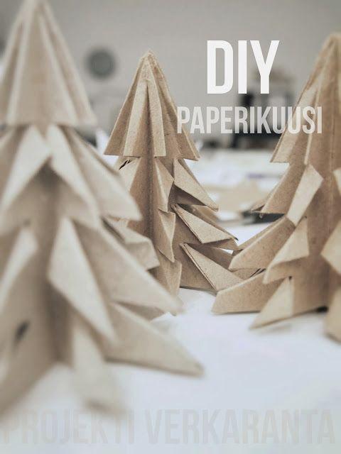 DIY // KUUSI ORIGAMI JOULUPÖYTÄÄN