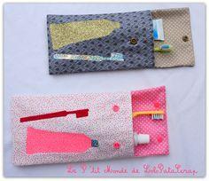 Faites le plein d'idées customisation, mode et décoration » Blog Archive » Des pochettes pour brosses à dents – By LoloPataScrap