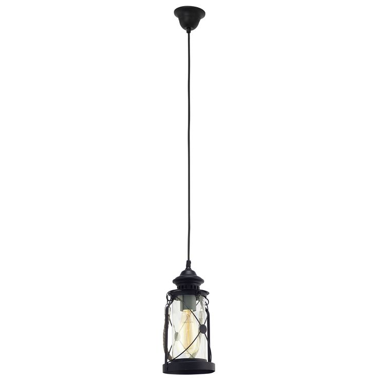 Ce poate crea un decor vintage mai autentic decat lampa suspendata tip Opait. Avem placerea sa va prezentam o lampa plina de personalitate cu linii bine conturate si o forma speciala. Lampa are culoarea neagra, materialele din care este realizata fiind metalul si sticla. Forma lampii este cea a unui opait, ea beneficiind chiar si de o toarta realizata din funie.