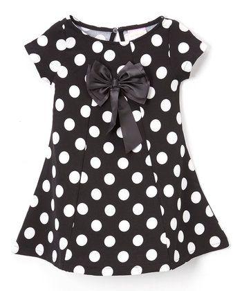 Black & White Polka Dot Dress - Toddler & Girls