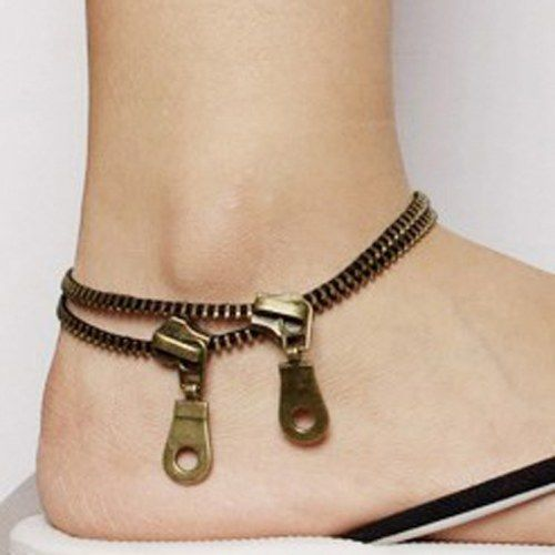 """Zipper anklet"" I am waiting for anklets to make a comeback. :)"