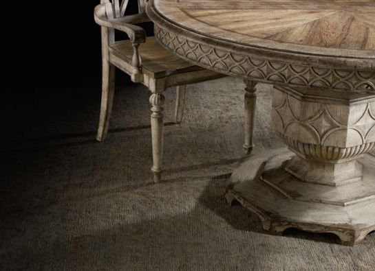 chatelet round extendable dining table